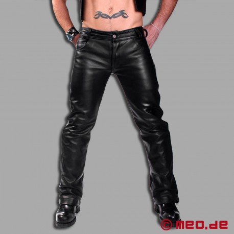 Lederhose im Skinny-Look