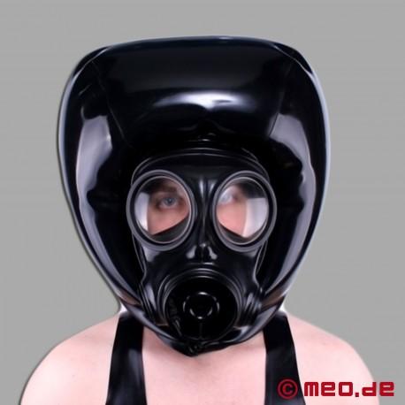 Aufpumpbare Maske mit Gasmaske