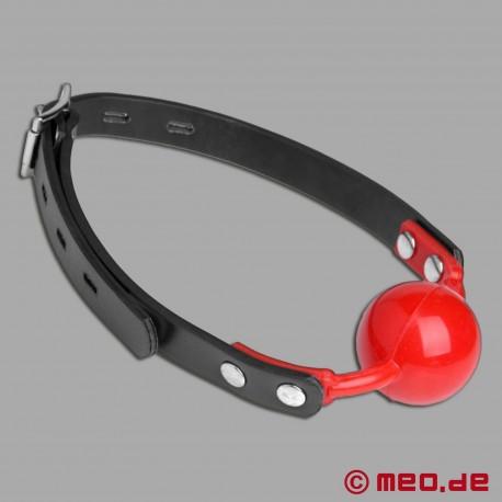 Roter Bondage Ballknebel abschließbar