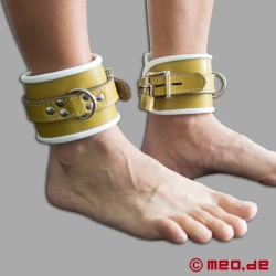 Locking Leather Ankle Cuffs - Hospital Style