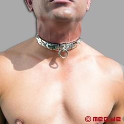 Abschliessbares Bondage Halsband aus Stahl
