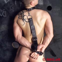Imbracatura bondage dorsale in pelle
