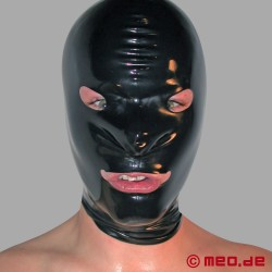 Latex Hood with Eye and Mouth Holes