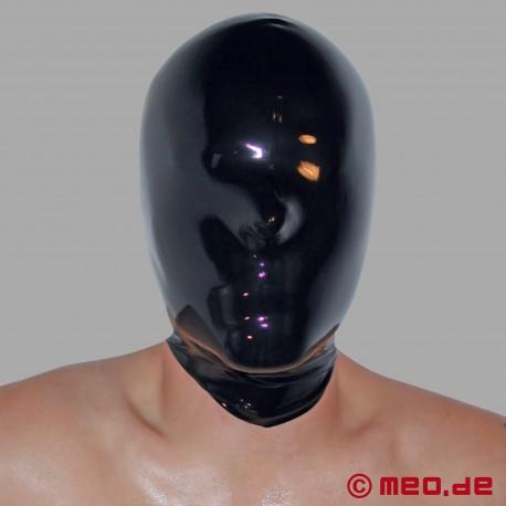 Masque en latex, complètement fermé