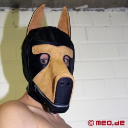 Masque en cuir Bad Puppy Dog Play