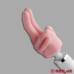 Puntatore di piacere a due dita per il massaggiatore potente di MEO