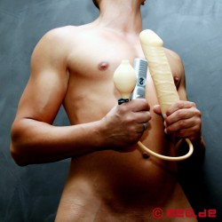 Vibrating Pump-Up XXL Dildo