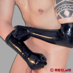 Latex gloves - medium length