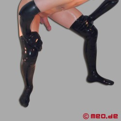 Kurze Stockings aus Latex