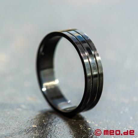 MEO-Schmuck: Schwarzer Ring