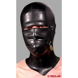 Masque en latex se fermant à clé
