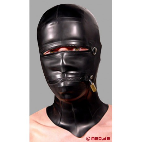 Latex-Bizarro Maske, komplett abschließbar