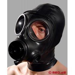 Masque en latex avec masque à gaz