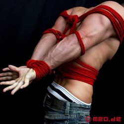 Quality Bondage Rope in red