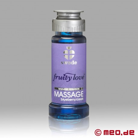 Swede - Fruity Love Massage Oil - Blueberry Cassis