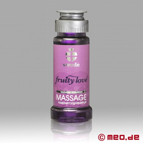 Swede - Fruity Love huile de massage - Framboise & Pamplemousse