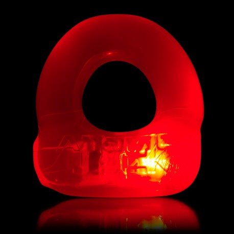 Lumo LED Stretch Cockring - Rot