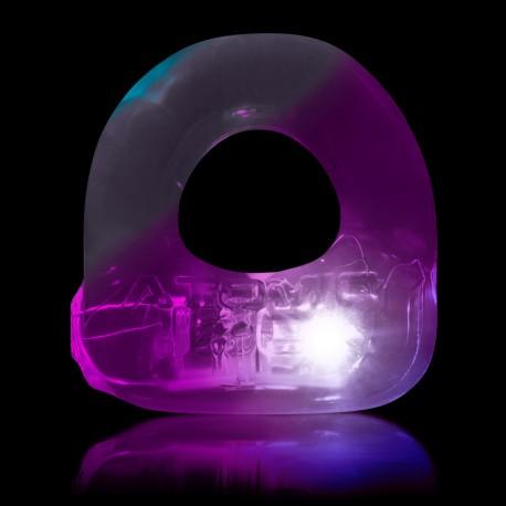 Anello fallico luminoso color trasparente LUMO
