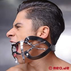 Mundspreizer mit Zahnschutz und Kopfgurt