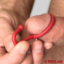 Cum Stopper Penisplug Spermabremse aus Silikon - rot