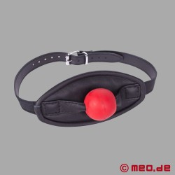 Roter Ballknebel mit Mundmaske