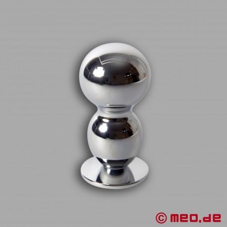 Plug anal métallique Amoremeo Double Shot