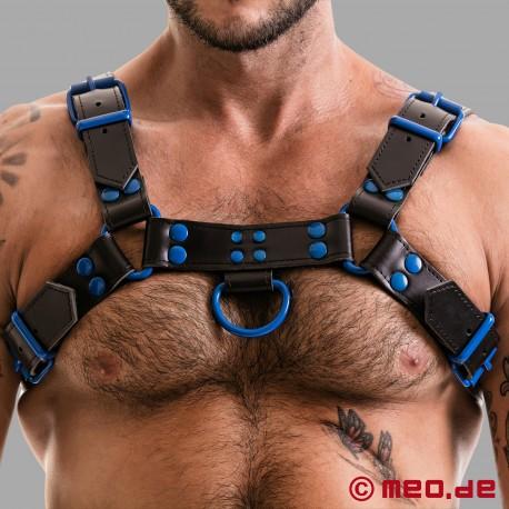 Imbracatura Fetish Gear in nero/blu
