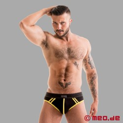 Fetish Gear Core Brief in schwarz / gelb