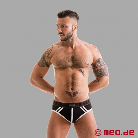 Fetish Gear Core Jock Brief in schwarz / weiß
