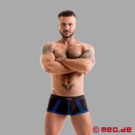 Fetish Gear Core Boxer in Colore Nero / Blu