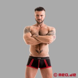 Fetish Gear Core Boxer Brief in schwarz / rot