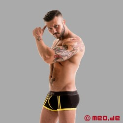 Fetish Gear Core Boxer in Colore Nero / Giallo