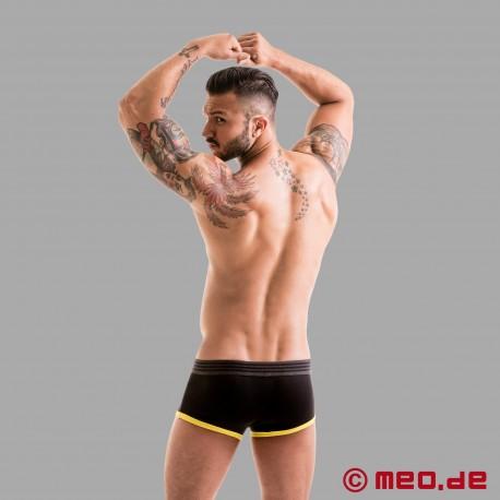 Fetish Gear Core Boxer in Colore Nero / Giallo