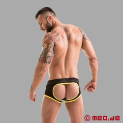 Fetish Gear Core Backless Boxer in Black / Yellow