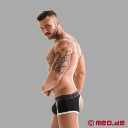 Fetish Gear Core Backless Boxer in schwarz / weiß
