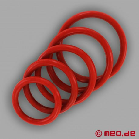 CAZZOMEO Red Rubber Cock Ring