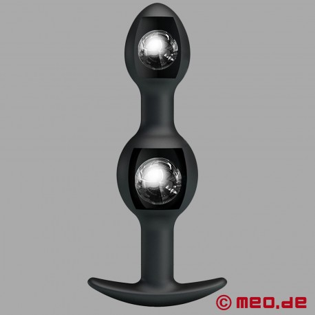HOLLY FUCK II Buttplug - Dilatatore anale con 2 sfere di acciaio all'interno