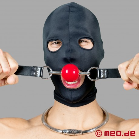 Mundknebel mit rotem Ball Black Berlin