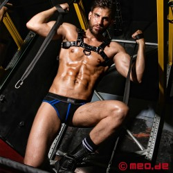 Fetish Gear Coloured H-Front Harness in Black