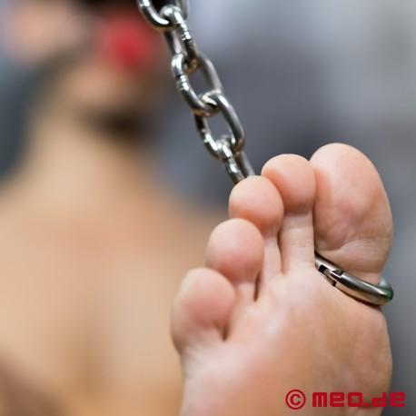 Restrizioni per alluce BDSM in acciaio