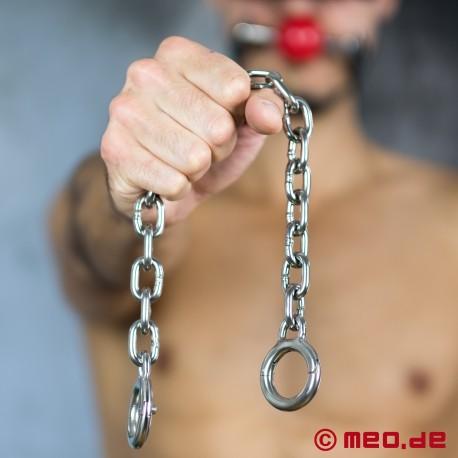 Massive BDSM Zehenfessel aus Stahl