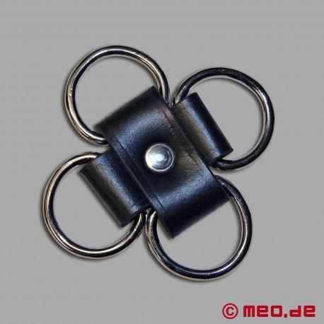 Connettore hogtie per self bondage con lucchetti a tempo