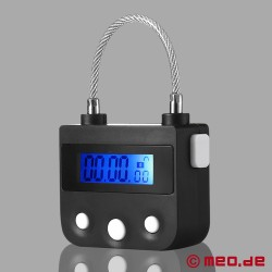 Serratura elettronica con blocco orario MEOBOND per Self Bondage & cintura di castità
