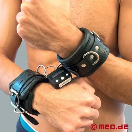 Polsini per mani richiudibili con lucchetto a tempo e imbottitura robusta
