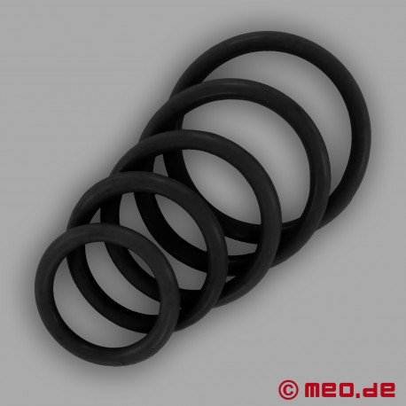 CAZZOMEO Black Rubber Cock Ring