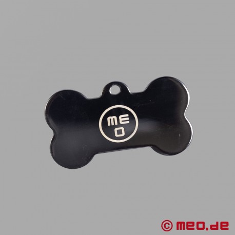 Bone-shaped puppy dog tag