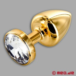 Anal Schmuck Gold Star Diamante– Luxus Buttplug mit Kristall