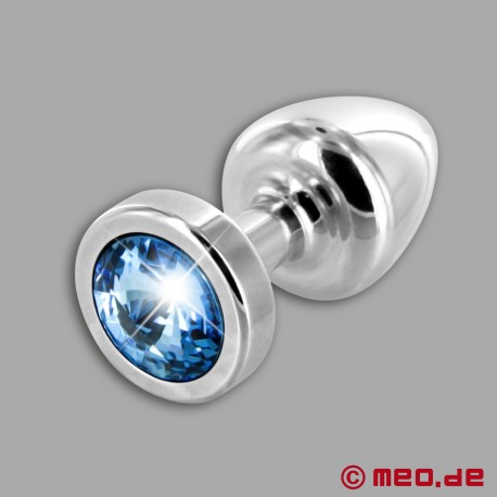 Anal Jewel Silver Star Zaffiro - Luxury Butt Plug with Crystal
