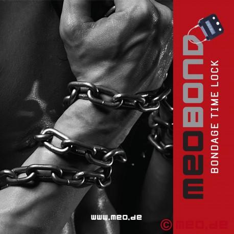 Self bondage leather collar w. time lock