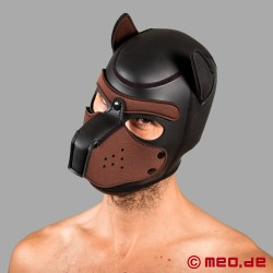 Bad Puppy - maschera da cane in neoprene - nero/marrone
